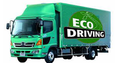 Reducing truck emission by EcoFleet battery rooftop air conditioner